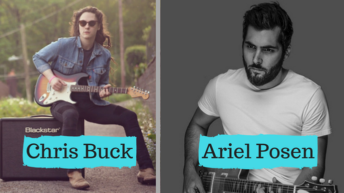 Chris Buck & Ariel Posen at Guitar Breaks